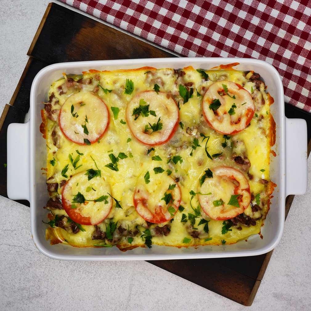 Изобразяване на рецептата Запеканка с картофи и телешко