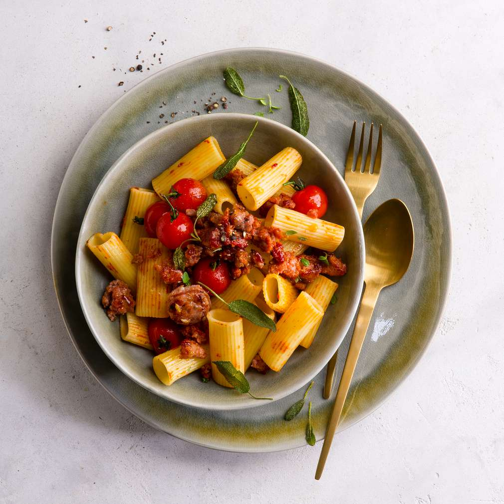 Abbildung des Rezepts Mediterrane Pasta mit Salsiccia