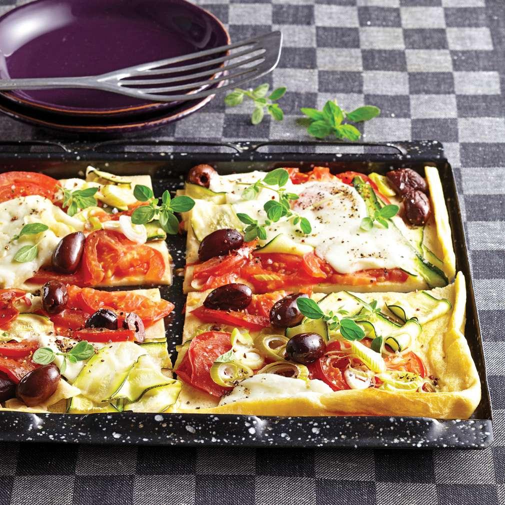 Clătite cu legume și mozzarella