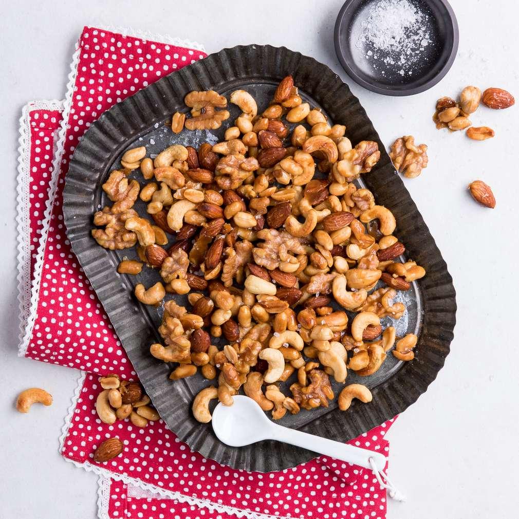 Abbildung des Rezepts Karamellisierte Nüsse