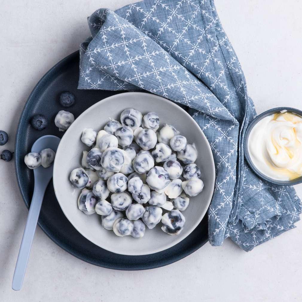 Abbildung des Rezepts Frozen-Joghurt-Blaubeeren