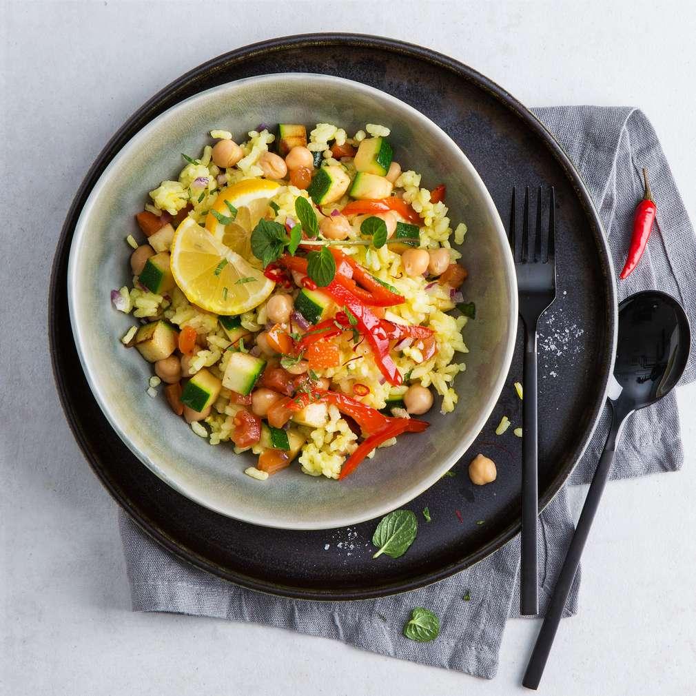 Imaginea rețetei Paella vegetariană din năut