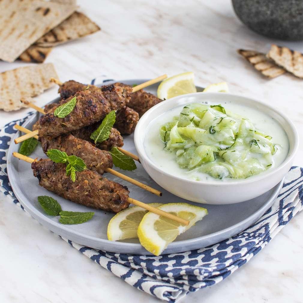 Zobrazenie receptu Mini kebaby s tzatziky