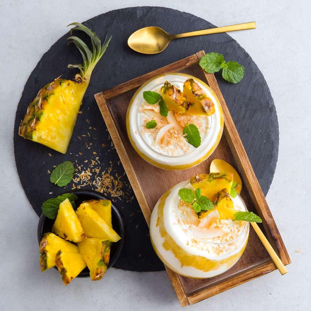 Abbildung des Rezepts Ananas-Joghurt-Dessert