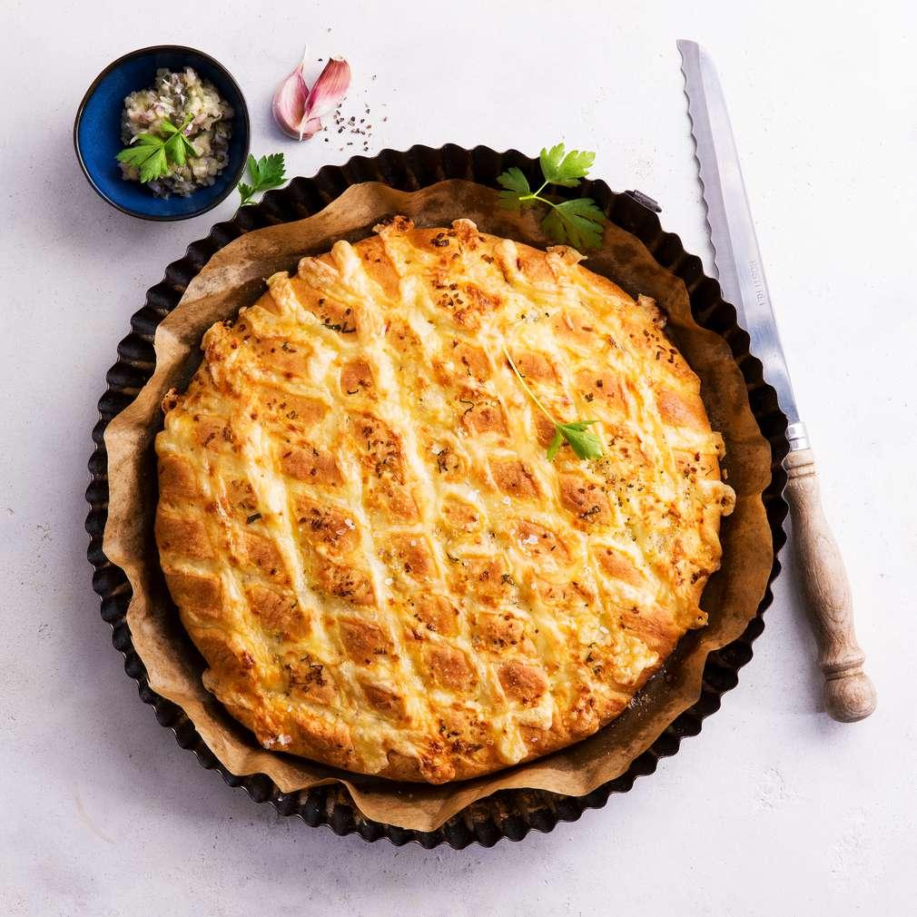 Abbildung des Rezepts Knoblauchbrot mit Käse zum Grillen