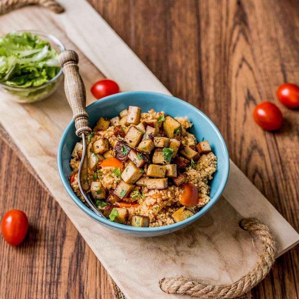 Zobrazenie receptu Grilované tofu s paradajkovým kuskusom