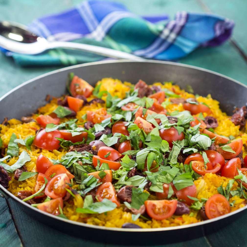 Изобразяване на рецептата Зеленчукова паеля
