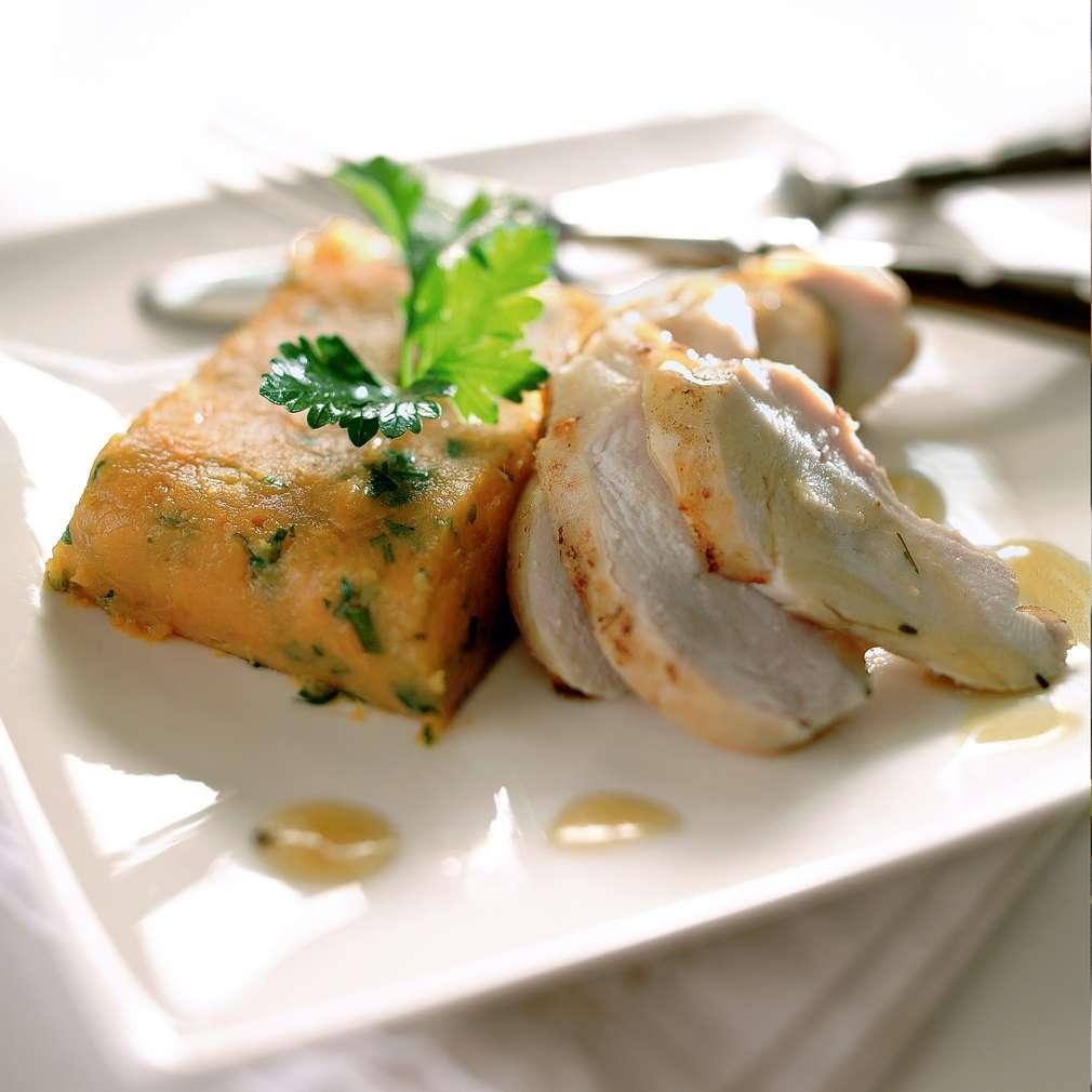 Изобразяване на рецептата Пиле с пюре от сладки картофи