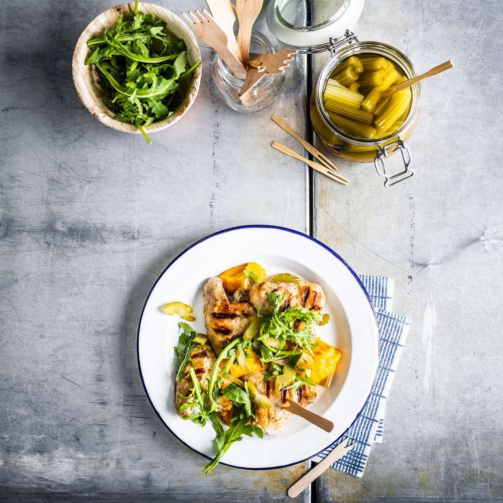 Imaginea rețetei Aripioare de pui cu piure de morcovi