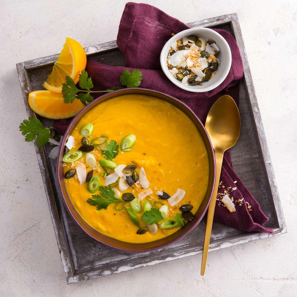 Abbildung des Rezepts Kürbis-Kokos-Cremesuppe