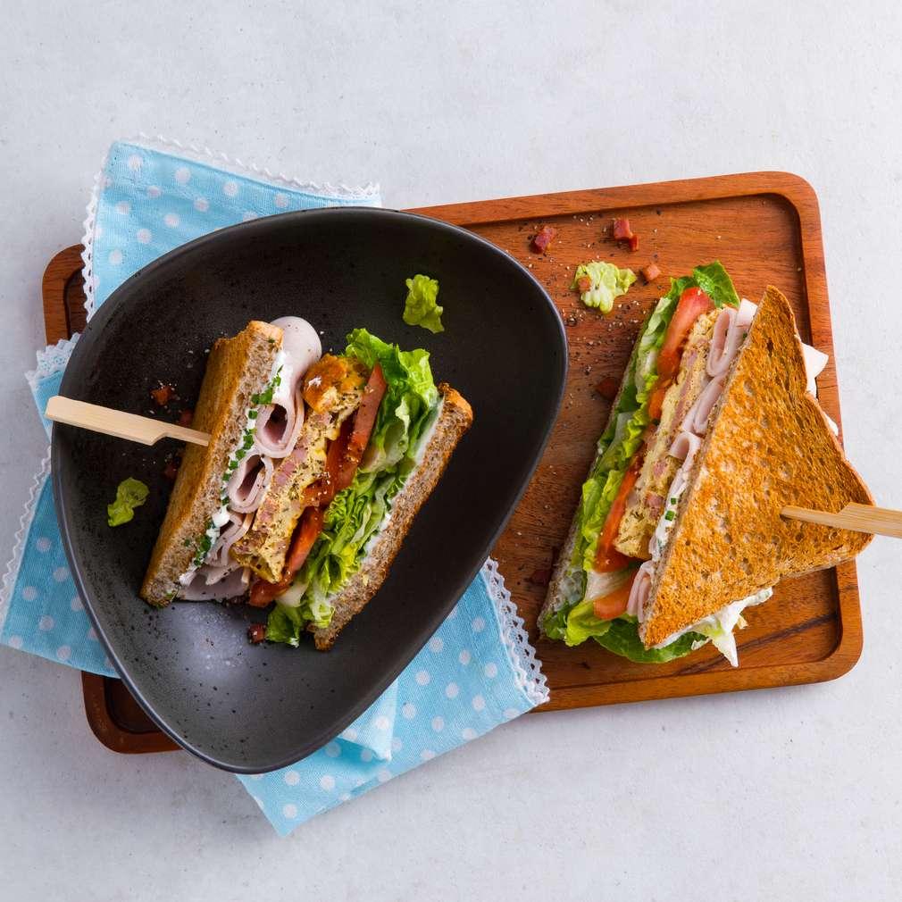 Abbildung des Rezepts Vollkorn-Club-Sandwich
