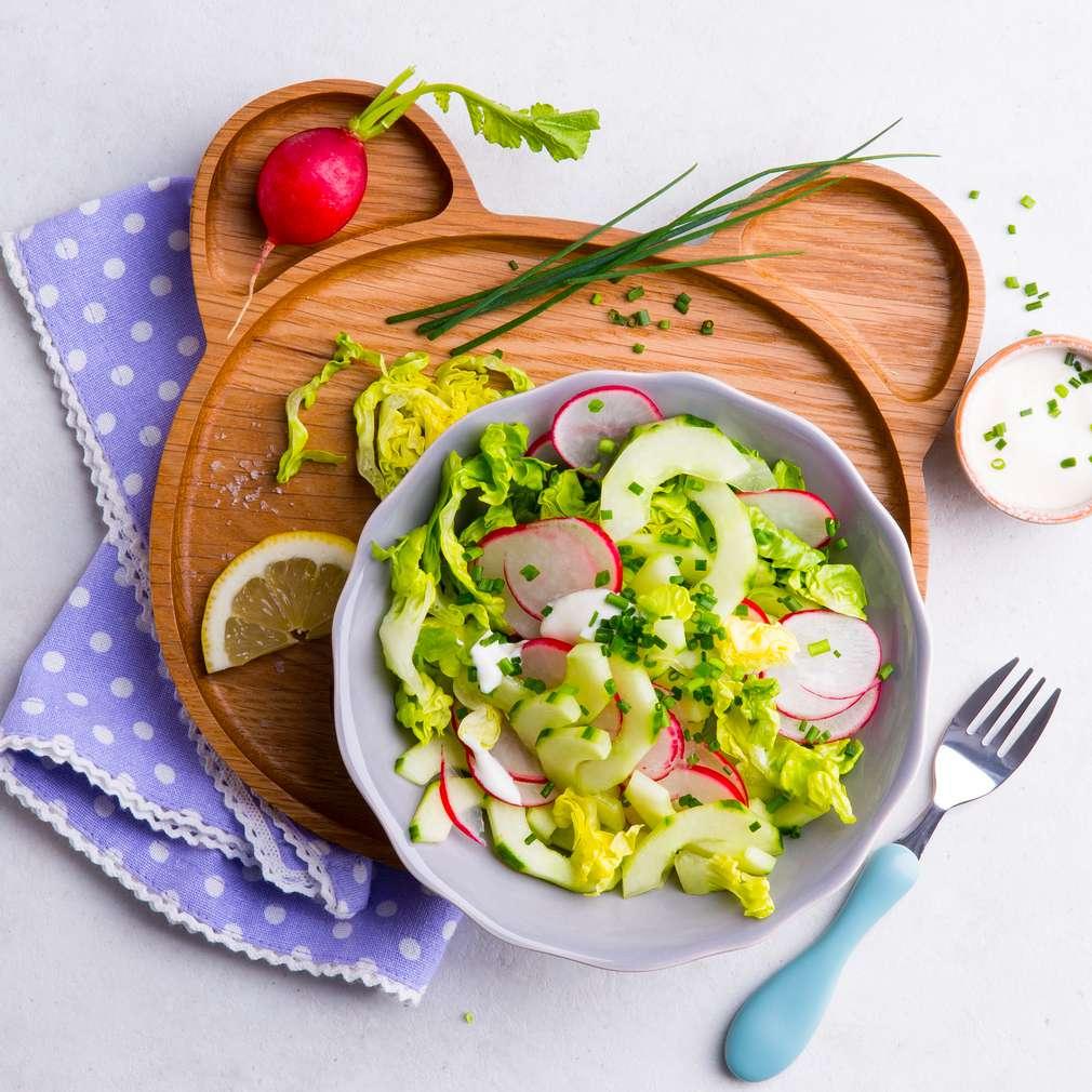 Abbildung des Rezepts Gurken-Radieschen-Salat mit Joghurtdressing