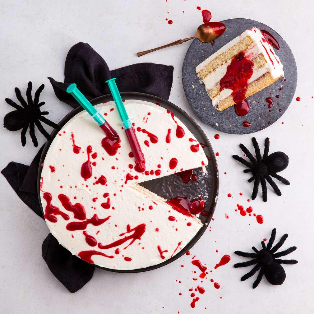 Abbildung des Rezepts Blutige Halloweentorte