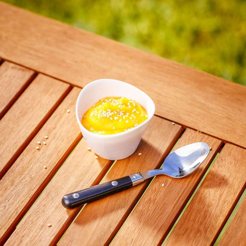 Abbildung des Rezepts Hummus-Dip aus geschmorter Möhre