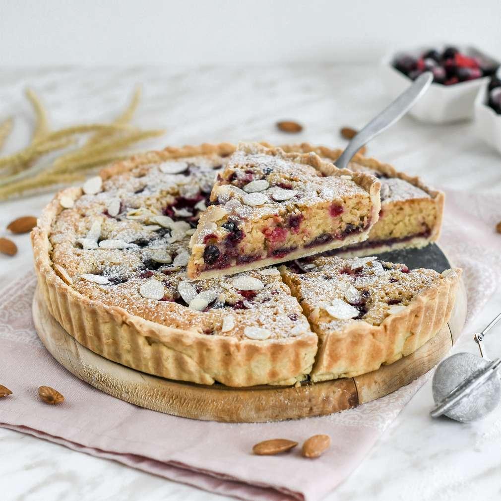 Zobrazenie receptu Mandľový koláč s lesným ovocím