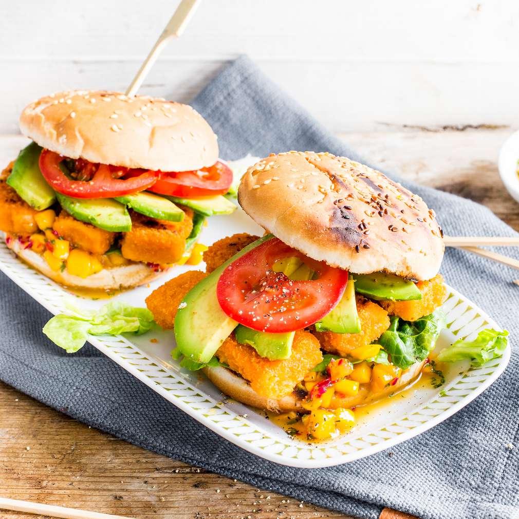 Abbildung des Rezepts Avocado-Fisch-Burger