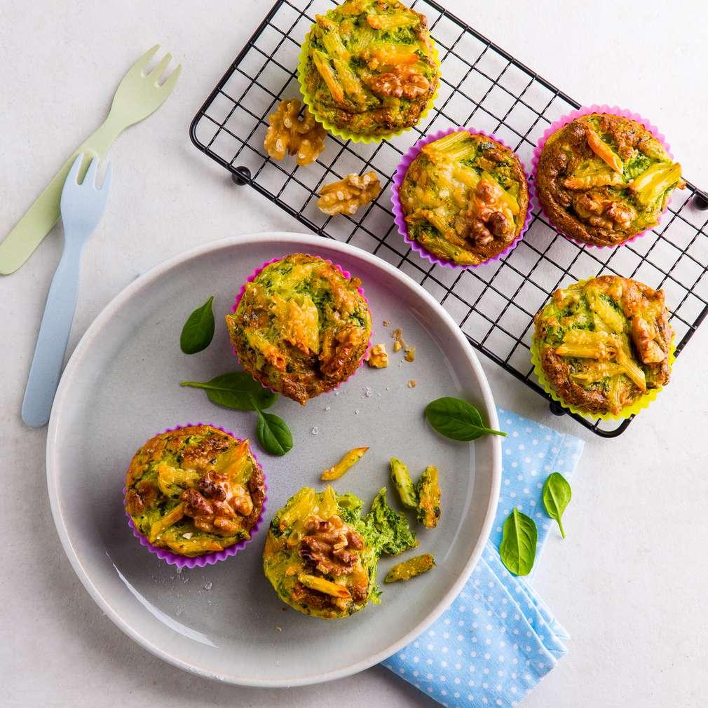 Abbildung des Rezepts Pasta-Muffins mit Spinat