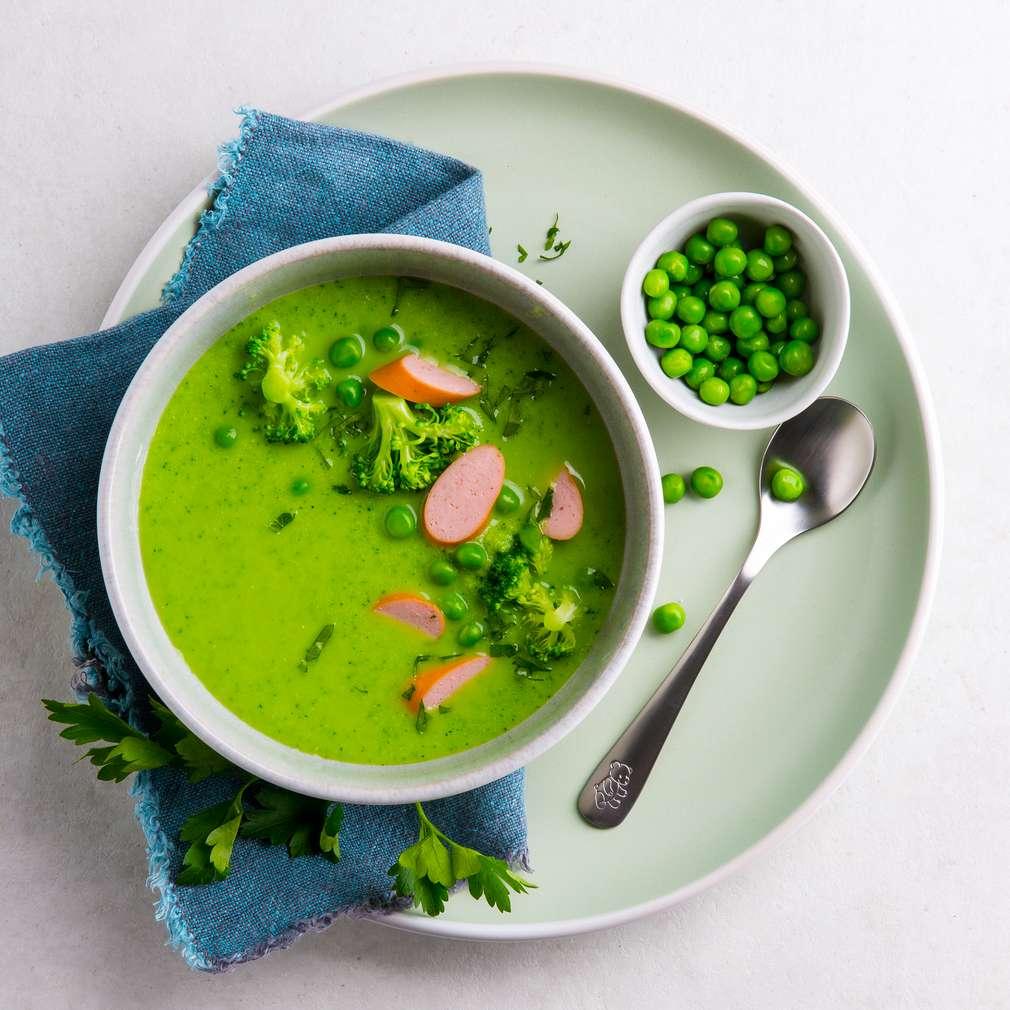 Abbildung des Rezepts Grüne Suppe mit Würstchen
