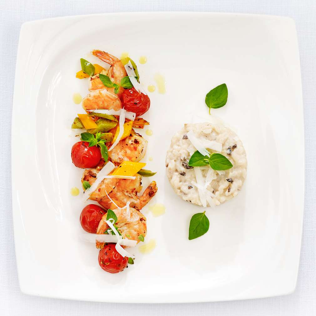 Zobrazenie receptu Hľuzovkové rizoto s krevetami