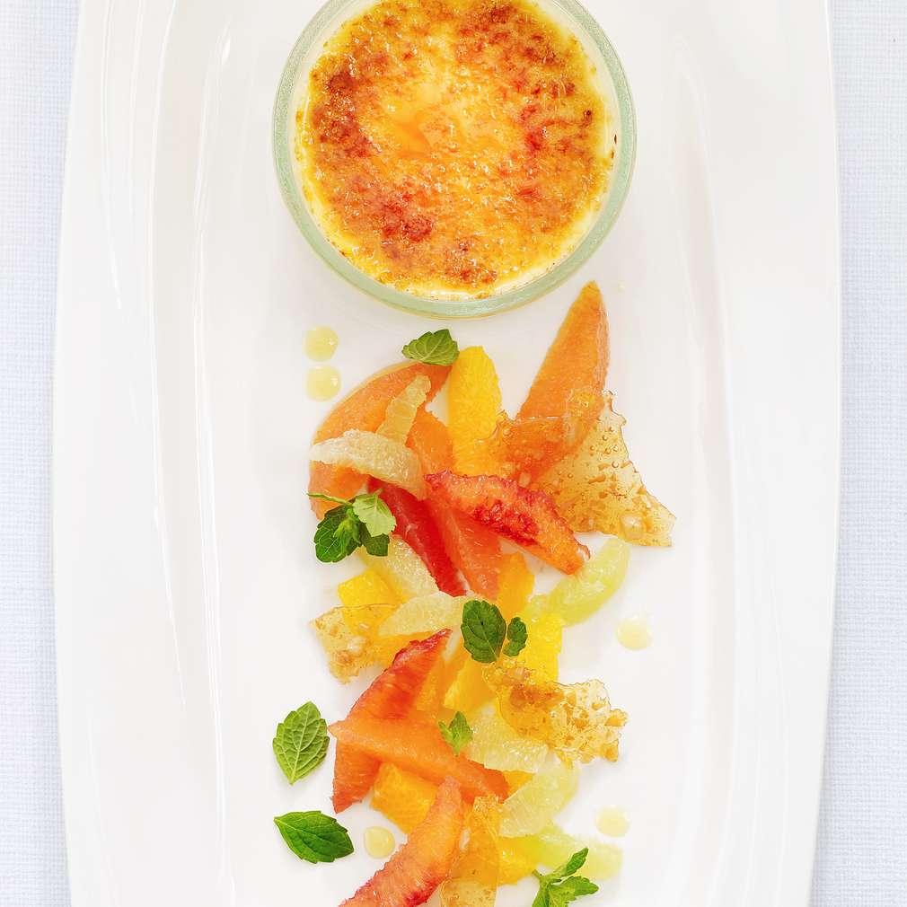Zobrazenie receptu Créme brûlée s citrusovým šalátom