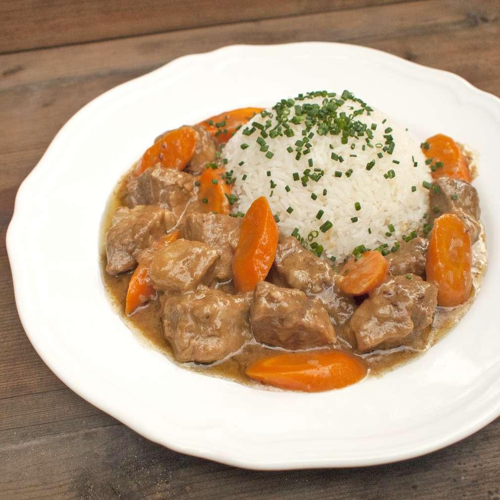 Zobrazit Dušené vepřové maso s mrkví receptů