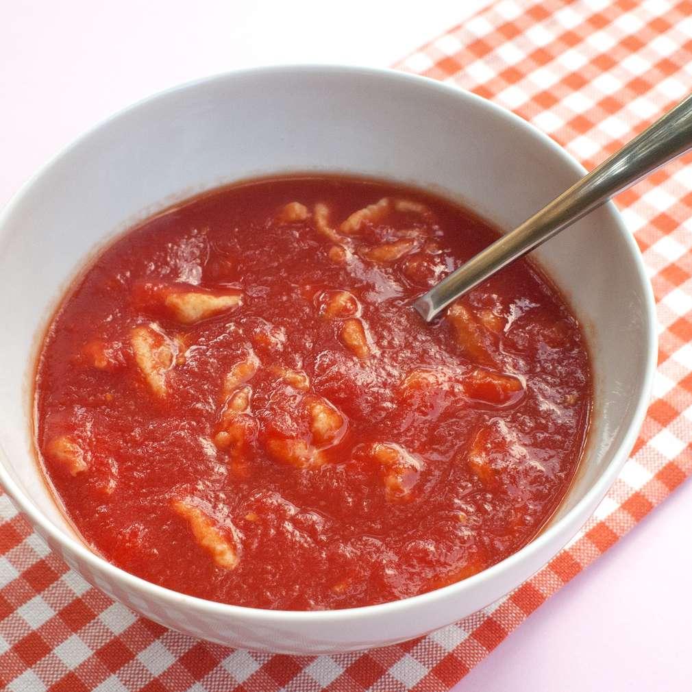 Zobrazit Rajčatová polévka s kapáním receptů