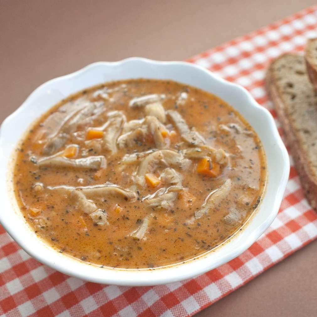 Zobrazit Dršťková polévka z hlívy ústřičné receptů