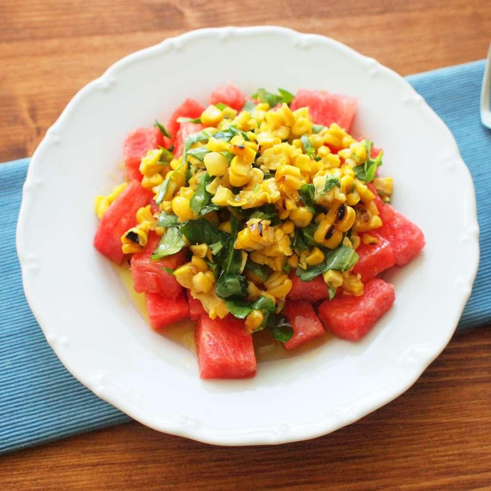 Zobrazit Grilovaná kukuřice s melounem receptů