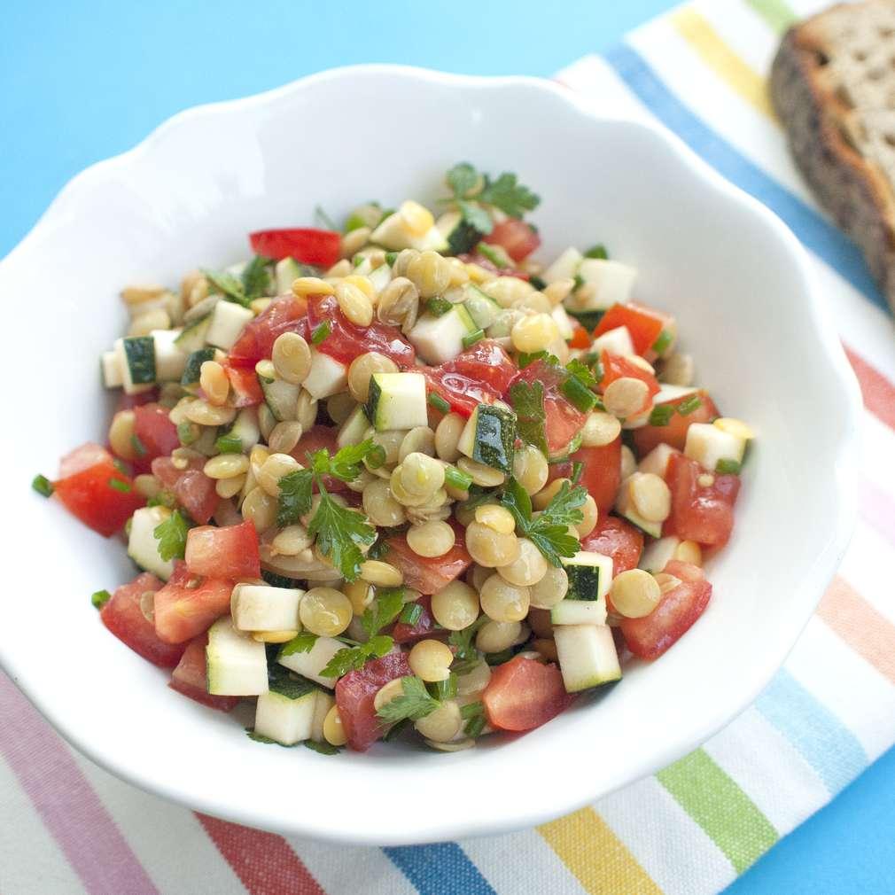 Zobrazit Lehký čočkový salát receptů