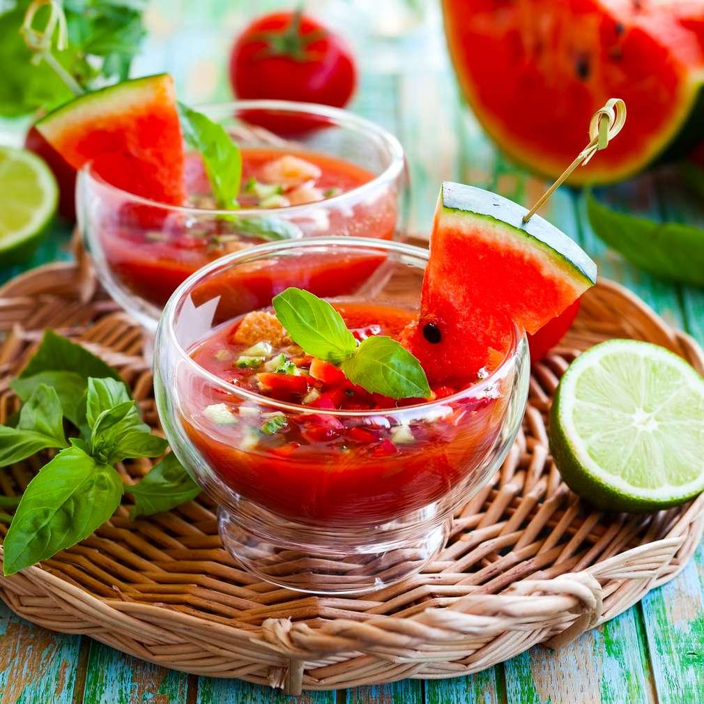 Abbildung des Rezepts Wassermelonen-Tomaten-Gazpacho