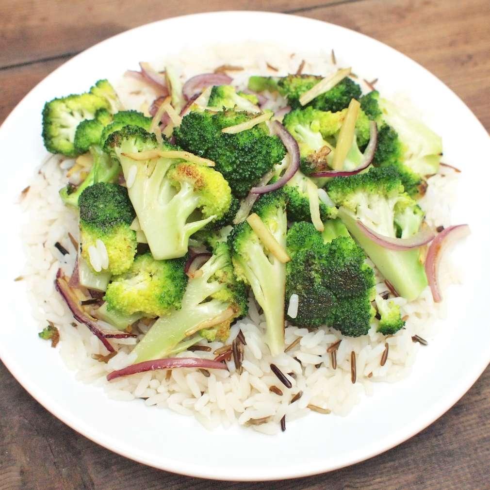 Zobrazit Rýže se zázvorem a brokolicí receptů