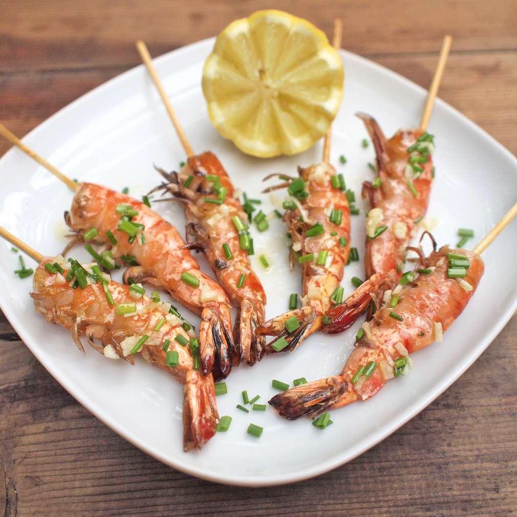 Zobrazit Grilované krevety receptů