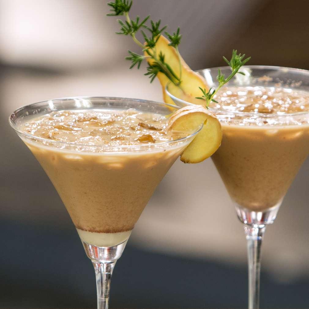 Изобразяване на рецептата Ледено кафе с лимон и джинджифил