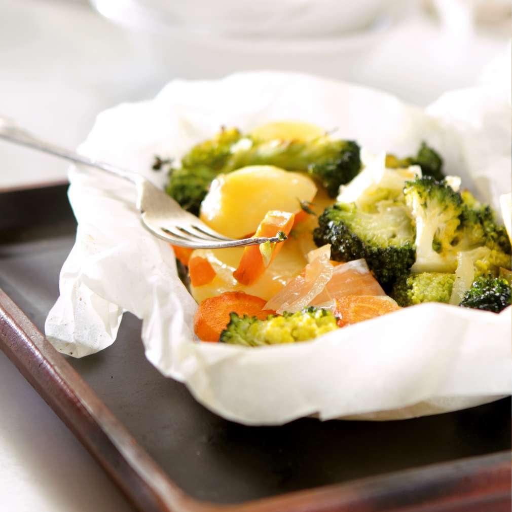 Изобразяване на рецептата Зеленчуци в пергамент