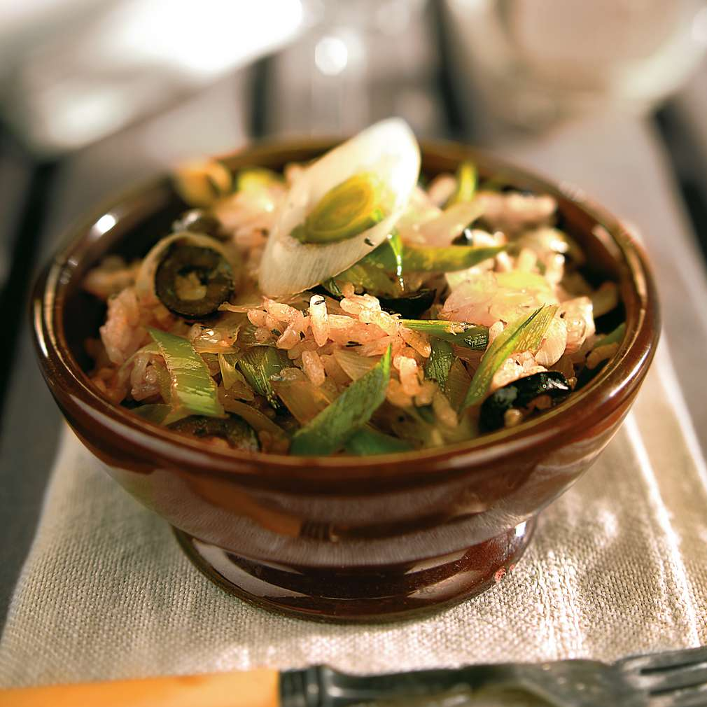 Изобразяване на рецептата Праз с ориз на фурна