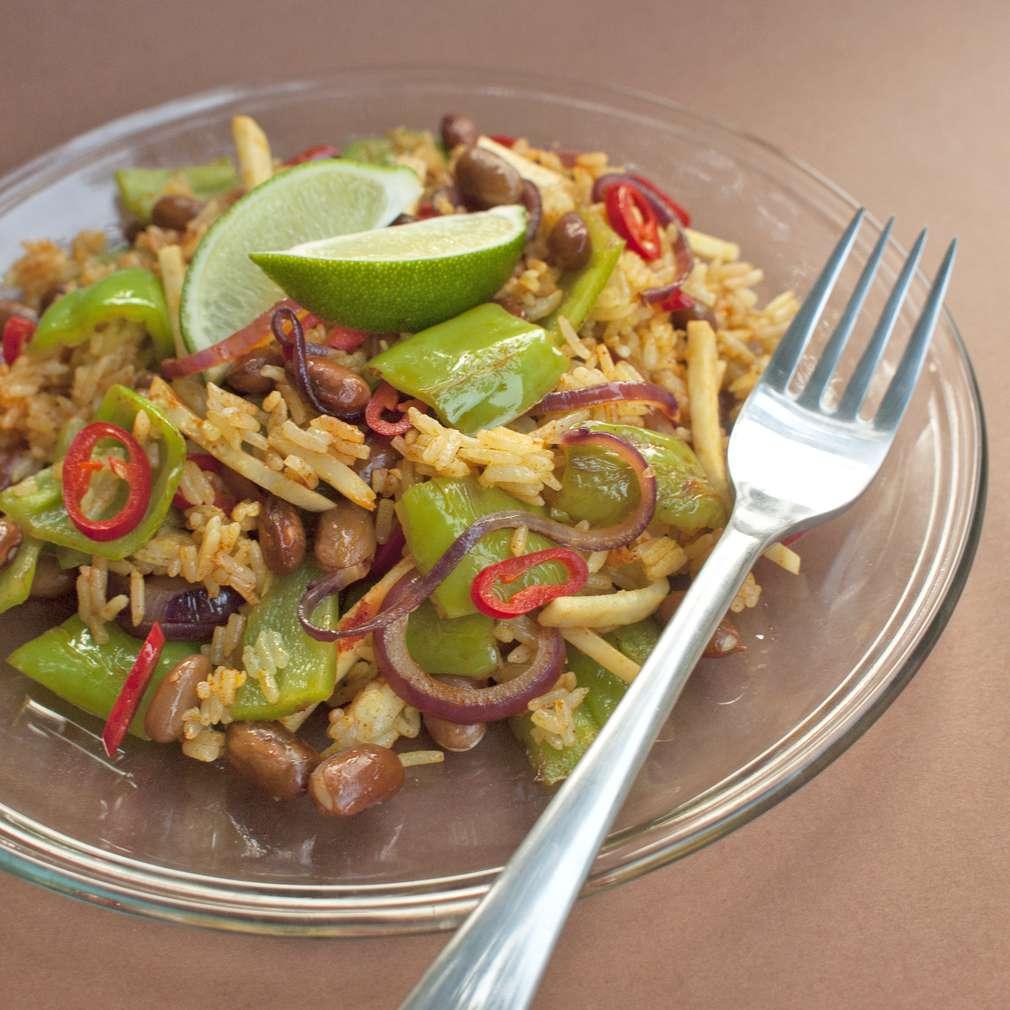 Zobrazit Kreolská rýže s fazolemi receptů