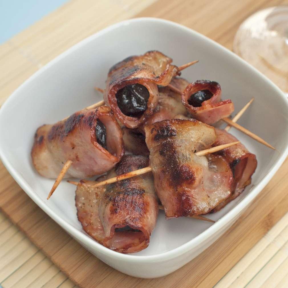 Zobrazit Grilované švestky ve slanině receptů