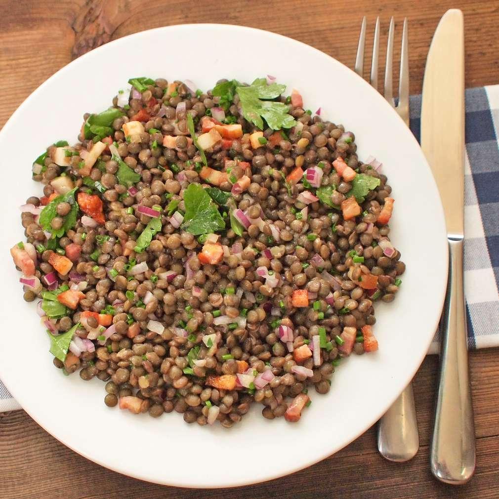 Zobrazit Čočkový salát se slaninou receptů