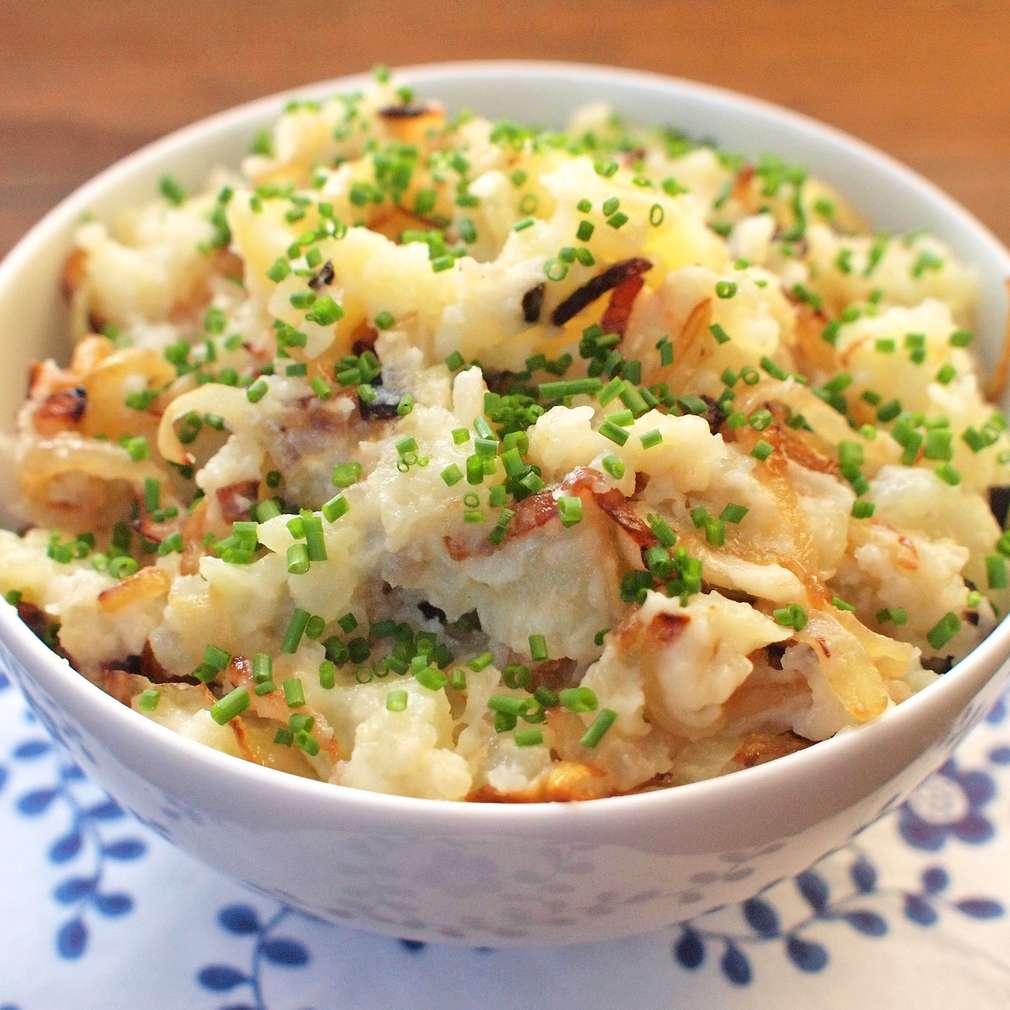 Zobrazit Šťouchané brambory s cibulkou receptů