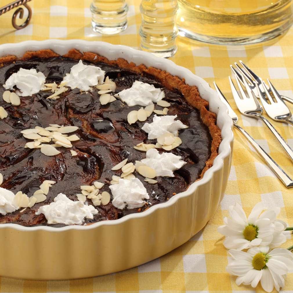 Zdjęcie przepisu Tarta czekoladowa z gruszkami