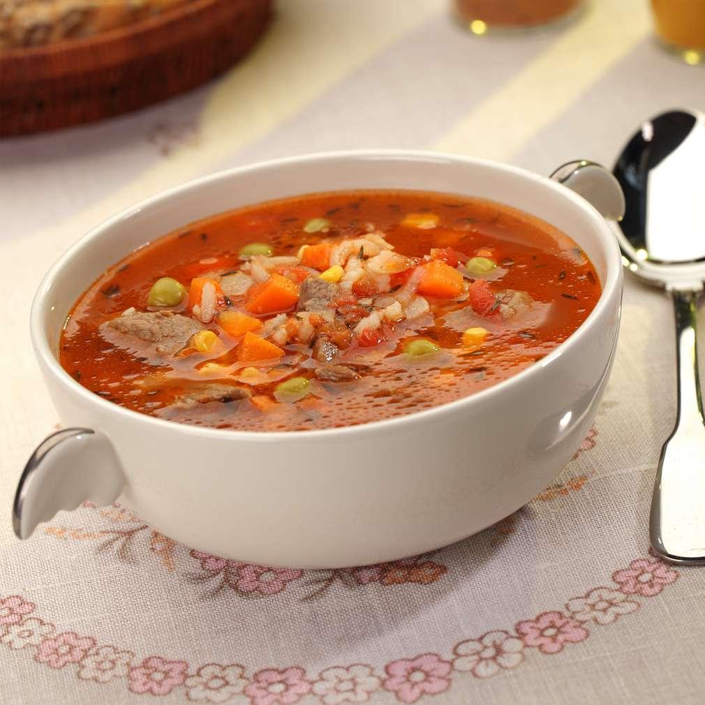 Zdjęcie przepisu Zupa ryżowa z mięsem