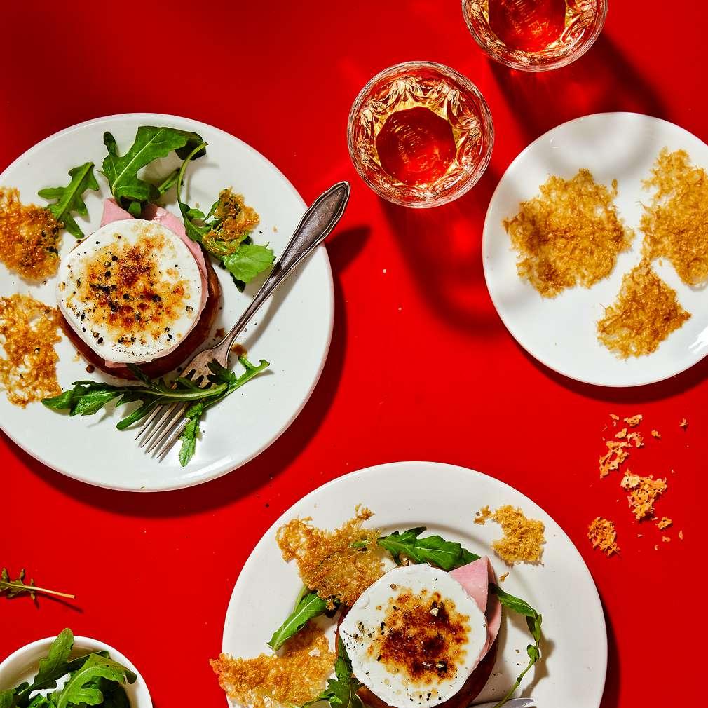 Imaginea rețetei Rondele aperitiv din brânză de capră și șuncă