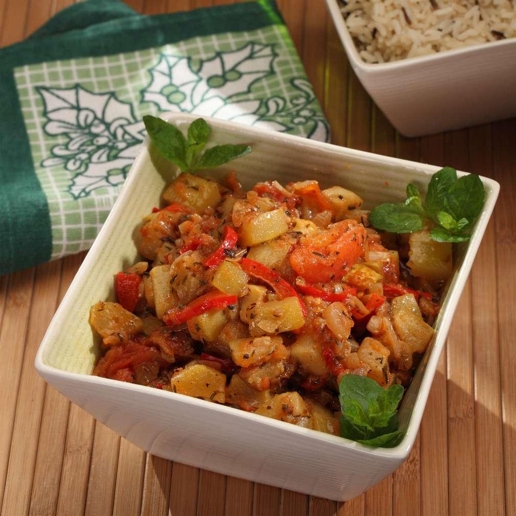 Zdjęcie przepisu Kabaczki lub cukinie w pomidorowym sosie
