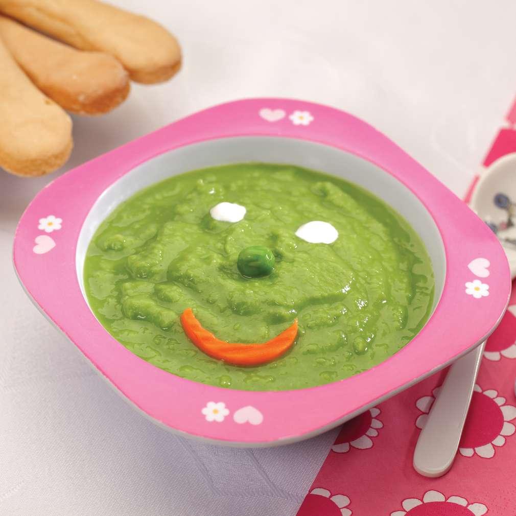 Zdjęcie przepisu Kremowa zupa z zielonego groszku