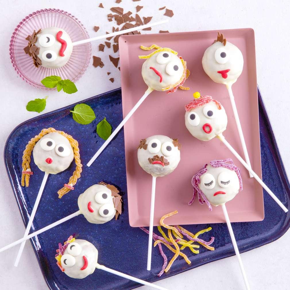 Abbildung des Rezepts Bunte Monster-Cake-Pops