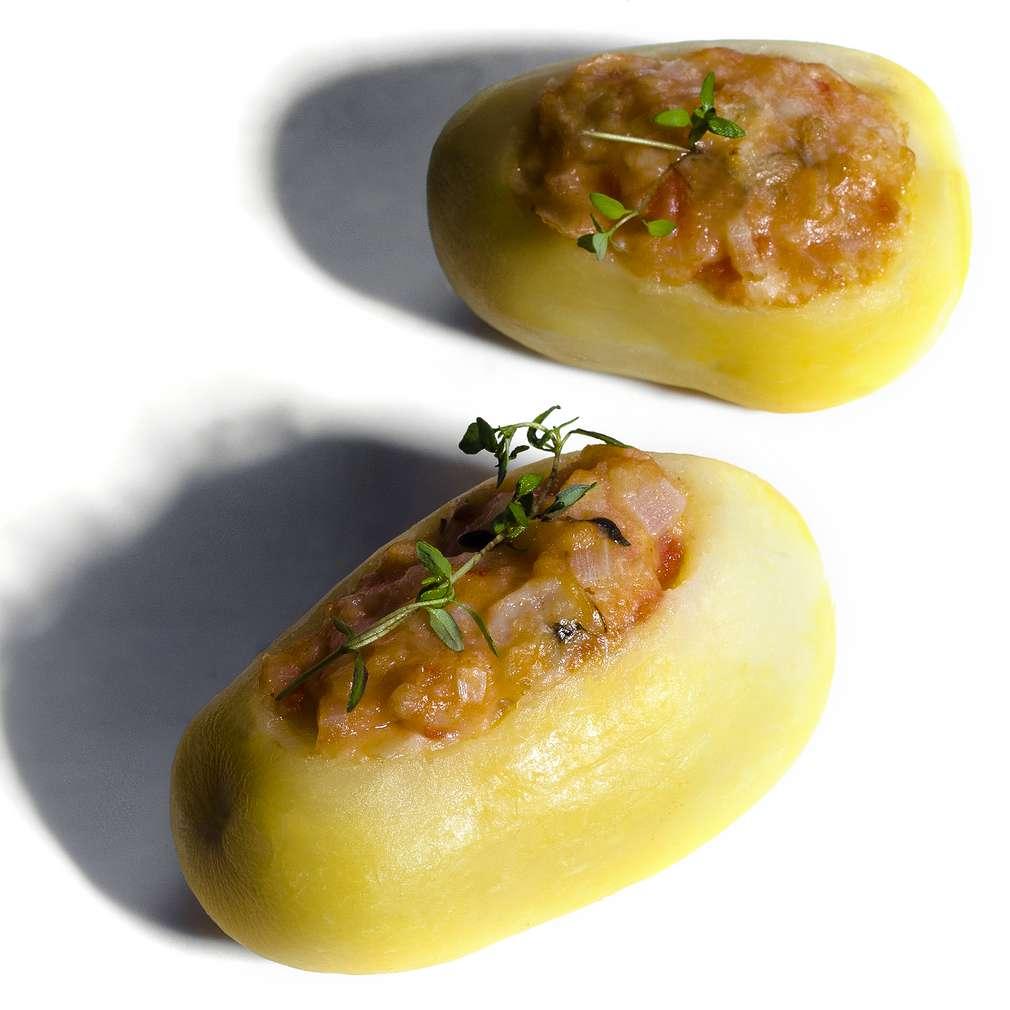 Zdjęcie przepisu Faszerowane ziemniaki z grilla
