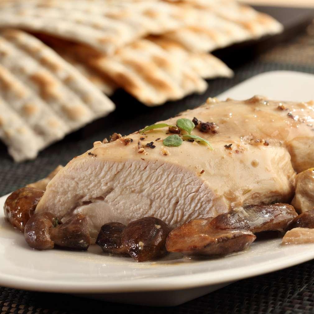 Zdjęcie przepisu Filet z kurczaka z grzybami i tymiankiem
