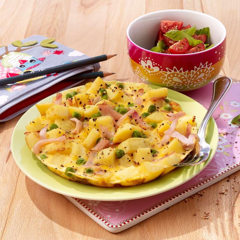 Abbildung des Rezepts Erbsen-Geflügel-Tortilla