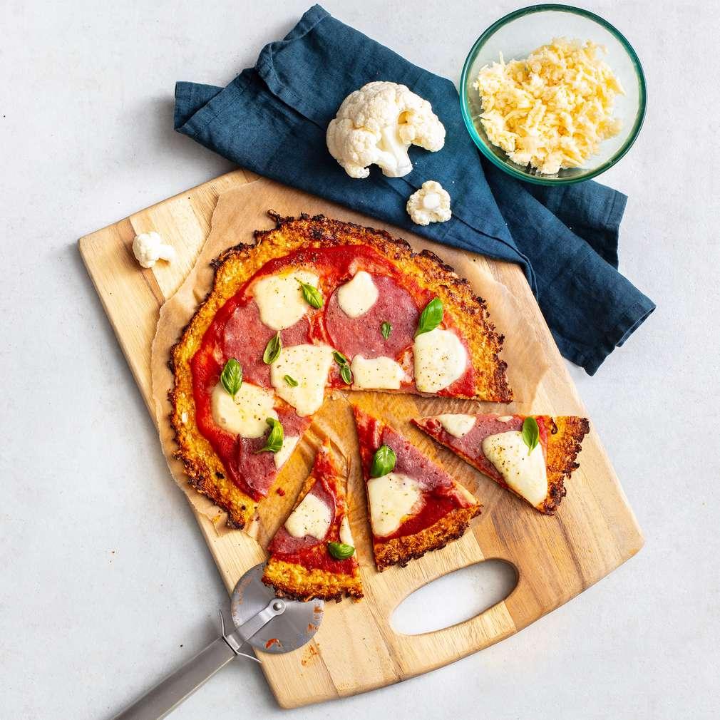 Изобразяване на рецептата Блат за пица без брашно