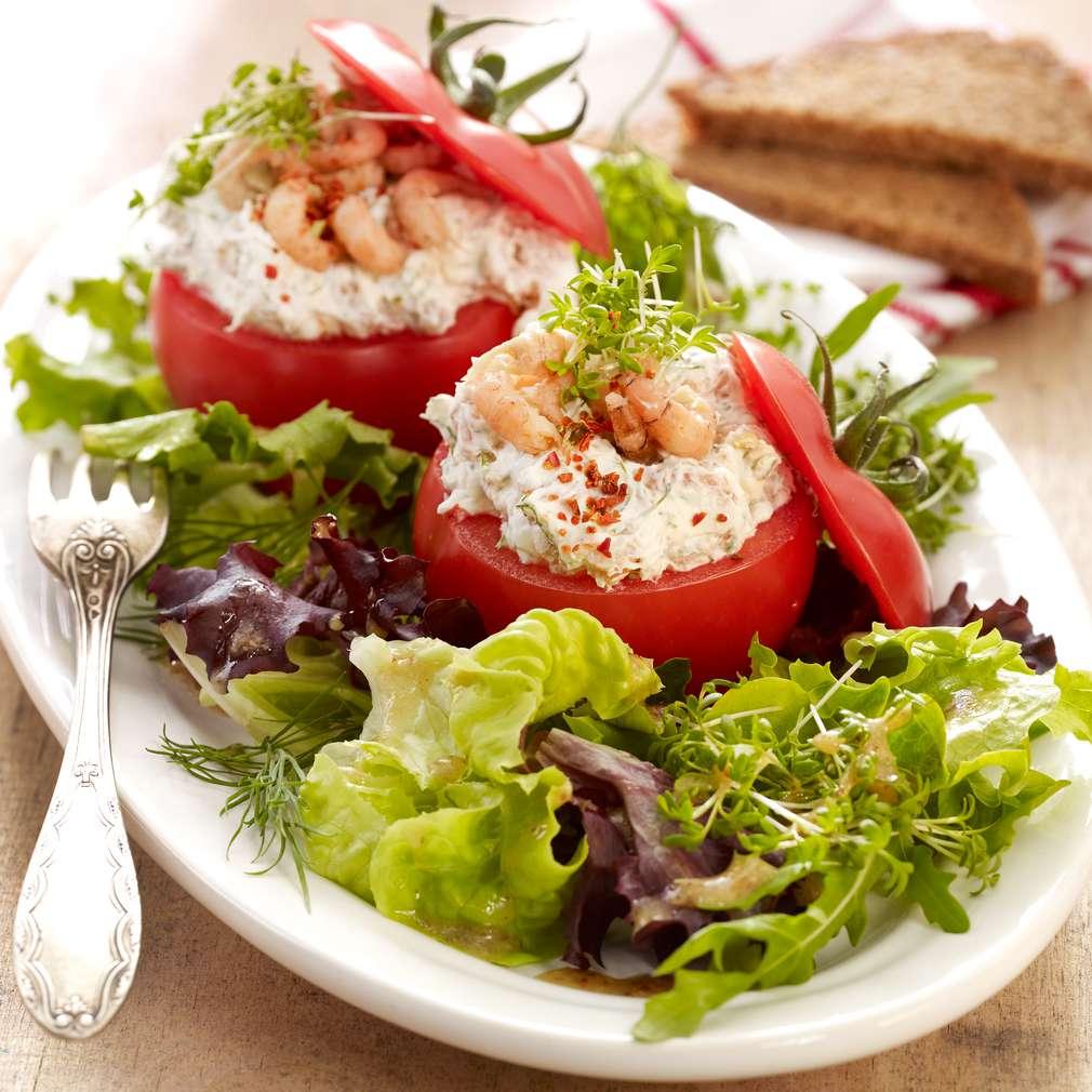 Abbildung des Rezepts Gefüllte Kresse-Krabben-Tomaten